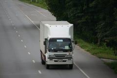 Przyczepy ciężarówka, zimny zbiornik. Zdjęcia Stock