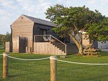 Przyczepy graniczący z oceanem pole dla przyczep kempingowych Montauk Nowy Jork Hamptons obrazy royalty free