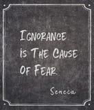 Przyczyna strachu Seneca wycena obrazy royalty free