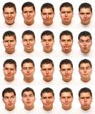 przydatne określeń twarzy Zdjęcia Stock