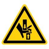 Przyduszenie r?ki wierzcho?ka dna symbolu znak Odizolowywa Na Bia?ym tle, Wektorowa ilustracja ilustracji