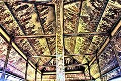 ` przydziału diabeł szczegółu ` ściany malowidło ścienne przy Kartą Gosha Bali Obraz Stock