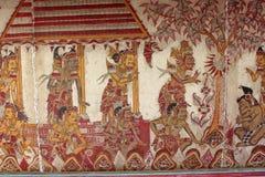 ` przydziału diabeł szczegółu ` ściany malowidło ścienne przy Kartą Gosha Bali Zdjęcie Royalty Free