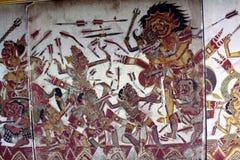 ` przydziału diabeł szczegółu ` ściany malowidło ścienne przy Kartą Gosha Bali Zdjęcia Stock