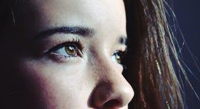 przygląda się dziewczyny s Zdjęcie Stock