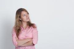 Przyglądająca kobieta zdjęcia stock