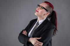 Przyglądająca up biznesowa punkowa kobieta Zdjęcie Stock