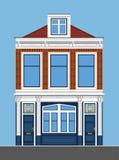 Przyglądający dom miejski Mieszkanie styl Zdjęcia Stock