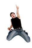 przyglądający mężczyzna krzyczy zaskakującego wierzchołek Zdjęcia Royalty Free