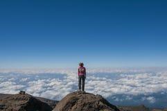Przyglądający nad Africa Kilimanjaro out Zdjęcia Royalty Free