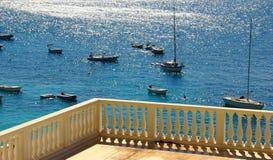 Przyglądający od balkonu out Fotografia Stock
