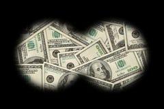 przyglądający pieniądze Zdjęcie Stock