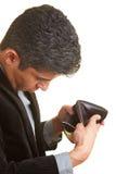 przyglądający portfel Fotografia Royalty Free