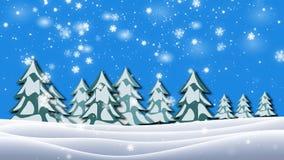 Przyglądający przy śnieżnymi gałąź i drzewami up, zimy tło ilustracja wektor
