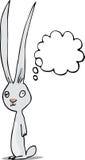 przyglądający się gnuśny królik Fotografia Stock