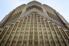 Przyglądający up ściana z cegieł kościół Zdjęcie Royalty Free