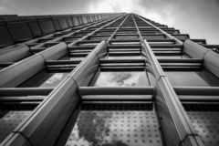 Przyglądający w górę Hong Kong budynków przy zdjęcia royalty free