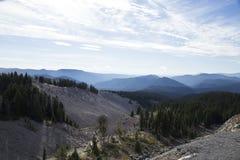 Przyglądający wschód od Timberline stróżówki, góra kapiszon, Oregon Obraz Stock