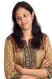 Przygnębiona Indiańska kobieta obrazy royalty free
