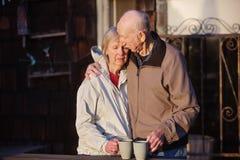Przygnębiona kobieta z mężem zdjęcia royalty free