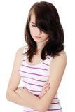 przygnębiona nastoletnia kobieta Obraz Royalty Free