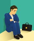 Przygnębiony biznesmen Obrazy Stock