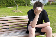 przygnębiony nastolatek Zdjęcia Stock