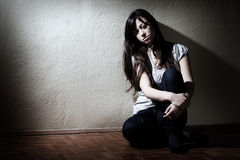 przygnębiony nastolatek Zdjęcie Royalty Free