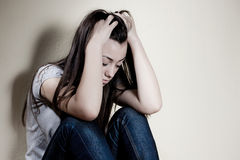 przygnębiony nastolatek Zdjęcie Stock