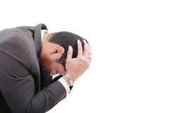 Przygnębiony biznesowy mężczyzna Zdjęcia Stock
