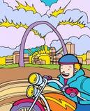 przygod dzieciaka ludwika motocyklu przejażdżki st Fotografia Royalty Free