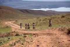 Przygoda roweru górskiego przez cały kraj maraton Obrazy Stock