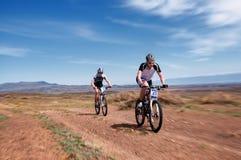 Przygoda roweru górskiego przez cały kraj maraton Fotografia Royalty Free