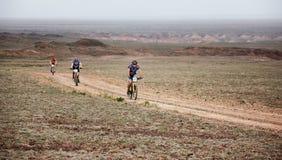 Przygoda roweru górskiego przez cały kraj maraton Obraz Stock