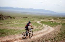 Przygoda roweru górskiego przez cały kraj maraton Zdjęcie Stock