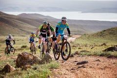 Przygoda roweru górskiego przez cały kraj rywalizacja Zdjęcie Stock