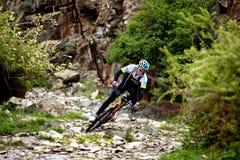 Przygoda roweru górskiego przez cały kraj rywalizacja Obraz Stock