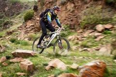 Przygoda roweru górskiego przez cały kraj rywalizacja Obrazy Royalty Free