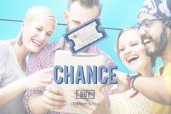 Przygodny sposobności opci decyzi skrzyżowania loteryjki pojęcie Zdjęcie Royalty Free