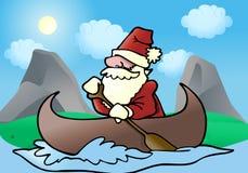 przygody łódź Santa ilustracji