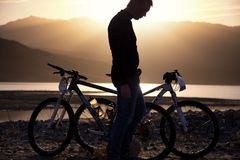 przygody roweru rywalizaci góra Zdjęcie Stock