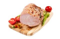 przygotowania bekonowego mięsa uwędzeni warzywa Zdjęcie Stock