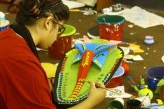 Przygotowania dla Pohela Boishakh Bengalskiego nowego roku w Dhaka Zdjęcia Royalty Free