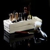 Przygotowania garbarni narzędzia Fotografia Stock