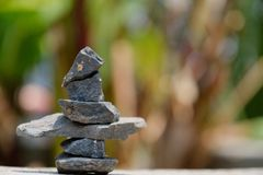 Przygotowania kamienie według Zen metody fotografia royalty free