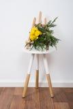 Przygotowania kwiaty i gałąź Obraz Stock