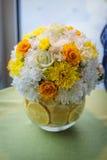Przygotowania kwiaty w kolorze żółtym i pomarańczach Obraz Royalty Free