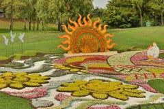 Przygotowania kwiaty w parku Obrazy Stock