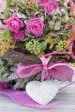przygotowania piękny kierowy róż kamień Zdjęcie Royalty Free