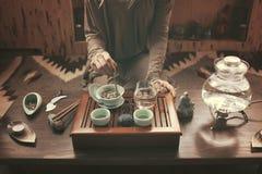 Przygotowanie dla herbacianej ceremonii Obraz Stock